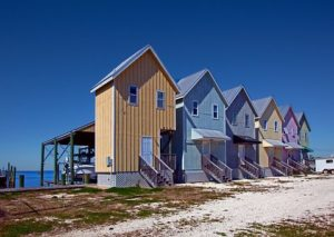 houses at the beach